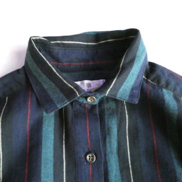 90's〜 stripe cotton shirts dress