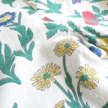 60's floral print flannel cardigan & floral print cotton blouse cardigan