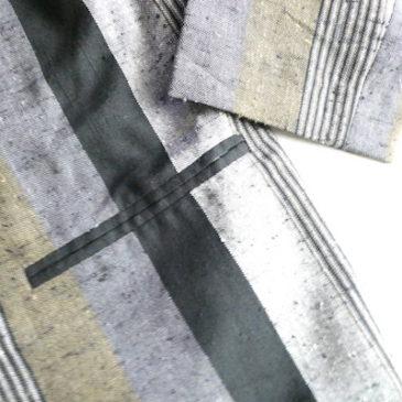 late 70's〜80's black gray stripe jacket & 90's light beige slacks