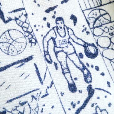 late70〜80's basketball printed sweat shirt & late80〜90's purple sweat shirt