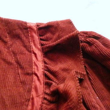 70's cotton hooded zip up blouson & terra-cotta orange corduroy jacket