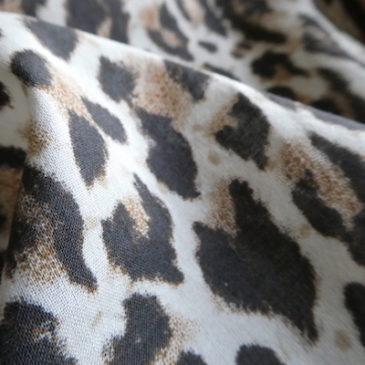90's〜 leopard pattern cotton shirt & leopard chiffon kimono cardigan