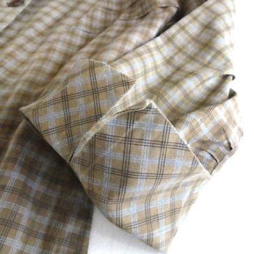 50〜60's brown cotton one-piece dress