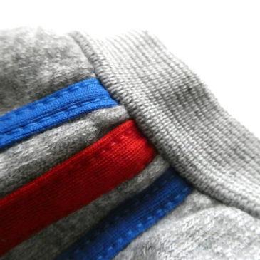 70's blue red line short sleeve sweat & 80's Bill Blass denim skirt