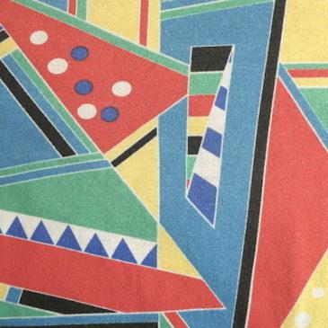 80's multicolor graphic pullover tops & 70's OshKosh denim flare bib overalls