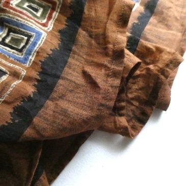 used beige summer knit & brown maxi resort skirt