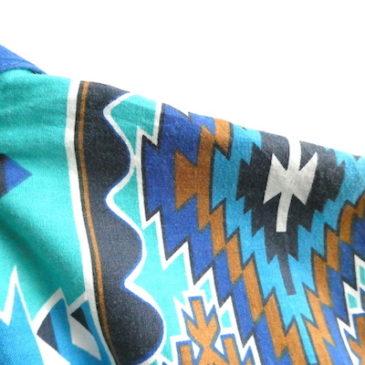 80〜90's native pattern yoke one-piece dress
