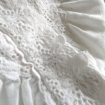 90's〜 white lace cotton gown
