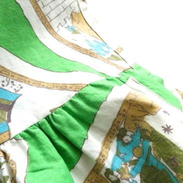 0's fairy tale light green tunic dress & beige cotton one-piece dress