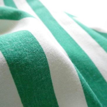90's〜 fringe silk sleeveless blouse & 80's green white stripe skirt
