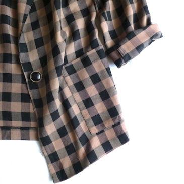 80's brown black plaid jacket & special price item