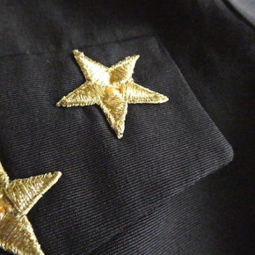 80's gold stars black all in one
