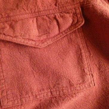 90's terracotta brown cotton pull over tops & 70's sears flare denim pants