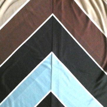 70's brown gradation pattern dress & 80〜90's moss green black rayon long skirt