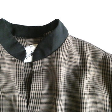 80〜90's multi color nep waffle JKT & 70〜80's glen check black trim dress
