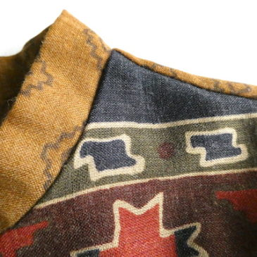New 70's native pattern brown dress
