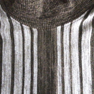 90's〜 brown stripe short sleeve sweater & used beige cable knit vest